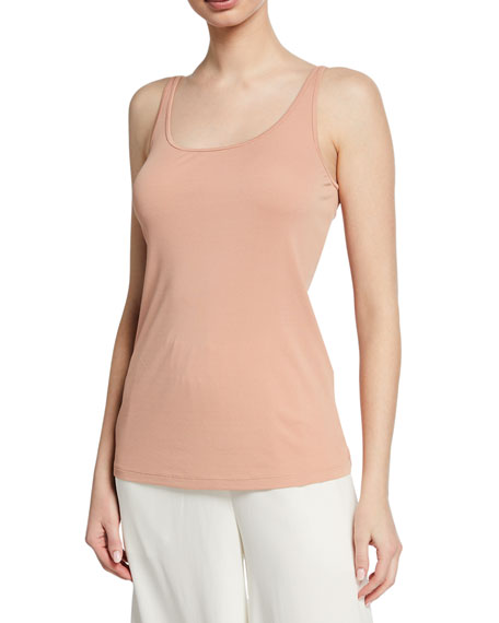 Eileen Fisher Silk Jersey Scoop-Neck Slim Cami