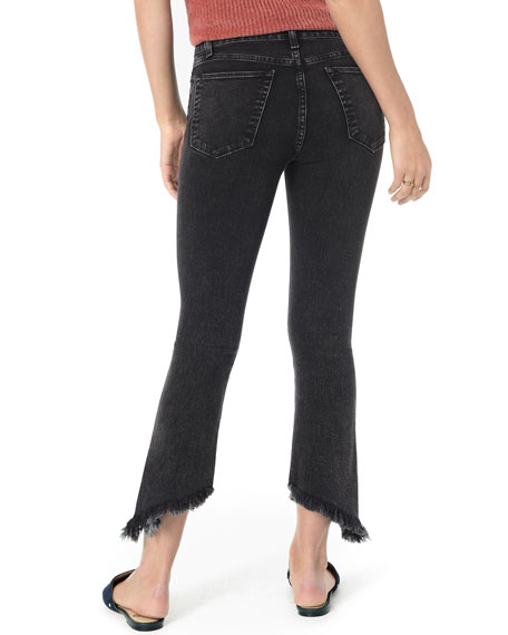Joe's Jeans Callie Cropped Boot-Cut Frayed Jeans