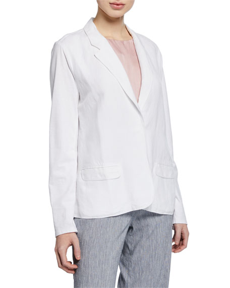 NIC+ZOE Petite Front Runner One-Button Blazer