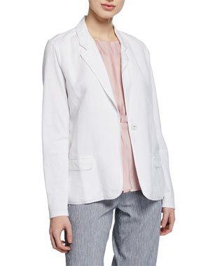 977e36bd89e NIC+ZOE Plus Size Front Runner One-Button Blazer. Favorite. Quick Look