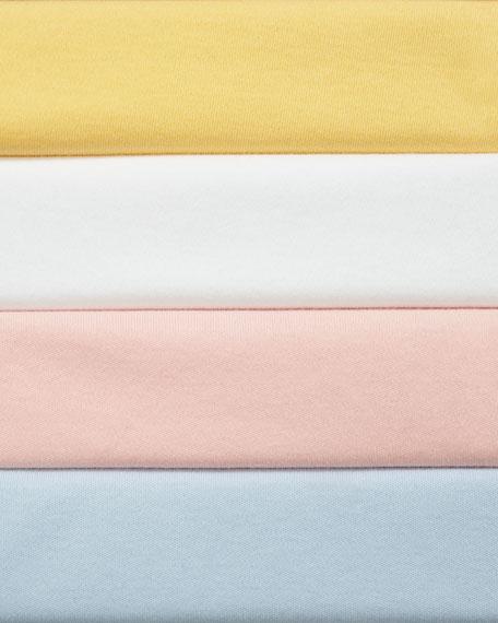 Joan Vass Petite Long-Sleeve Cotton Interlock Top with Ruching & Tie Detail