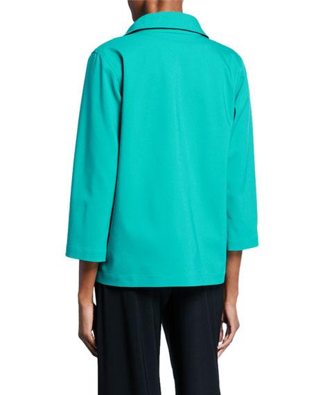 Caroline Rose Summer Stretch Zip-Front Jacket