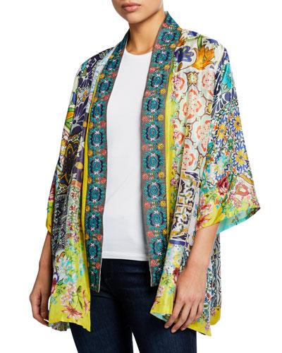 Petite Morocco Reversible Silk Kimono