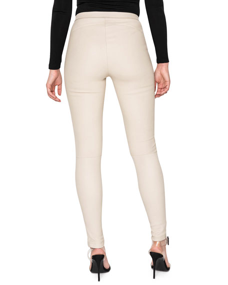 LaMarque Kelly Leather Skinny Ankle Pants