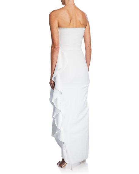 Chiara Boni La Petite Robe Nyaveth Strapless Bustier Side-Drape Long Dress