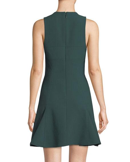 cinq a sept Elizabeth Sleeveless Flounce Mini Dress