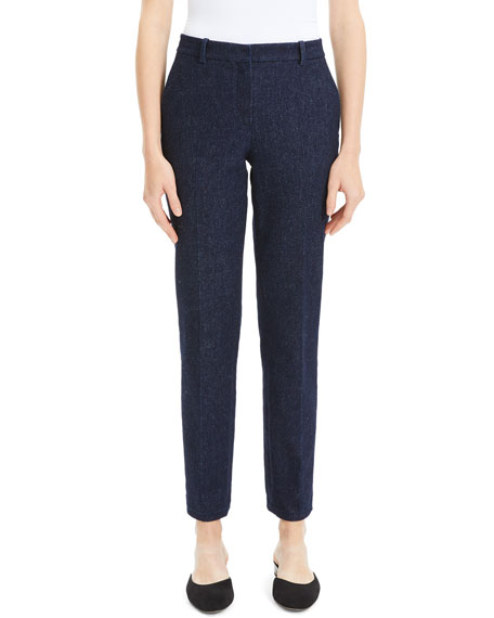 Theory Tailored Straight-Leg Cotton Trousers