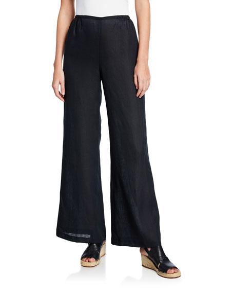 Caroline Rose Plus Size Tissue Linen Wide-Leg Pants