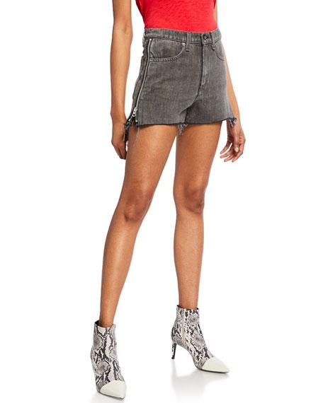 Rag & Bone Maya High-Rise Denim Shorts w/ Side Zippers