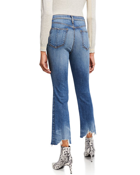 Image 2 of 3: Nina High-Rise Ankle Flare Jeans w/ Chewed Hem