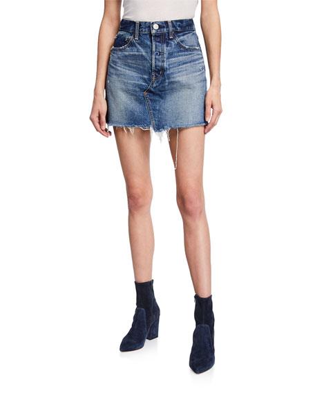 MOUSSY VINTAGE Spencer Denim Mini Skirt