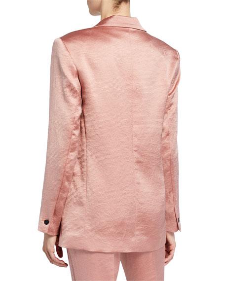 ba&sh darcy one-button satin jacket