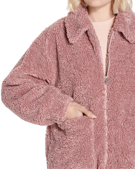 UGG Kaley Fuzzy Faux-Fur Jacket