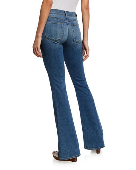 7 For All Mankind Ali High-Rise Medium-Wash Flared Denim Jeans