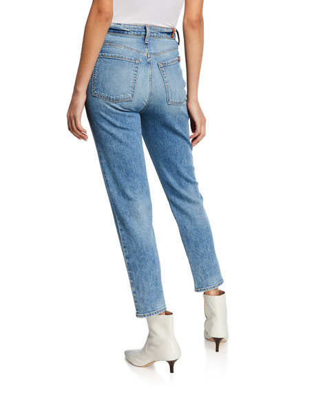 7 For All Mankind High-Waist Slim Cropped Denim Jeans