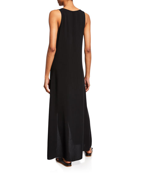 Anatomie Galia V-Neck Sleeveless High-Low Maxi Dress