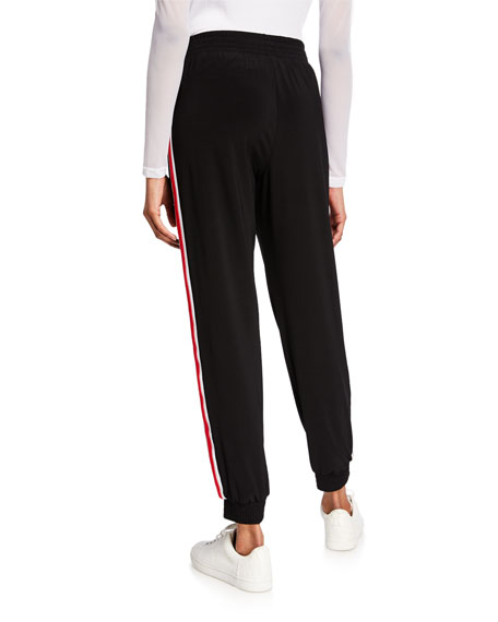 Anatomie Daniella Side-Stripe Pull-On Jersey Jogger Pant