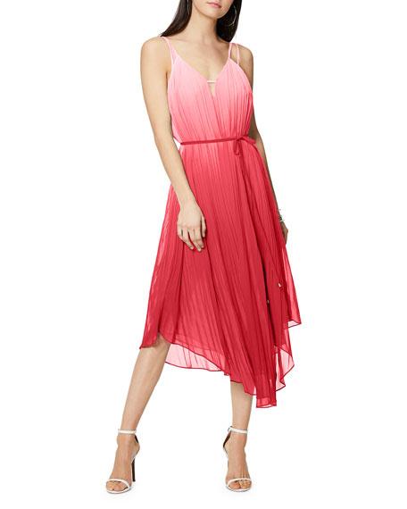 Ramy Brook Viola Ombre Pleated Spaghetti-Strap Dress
