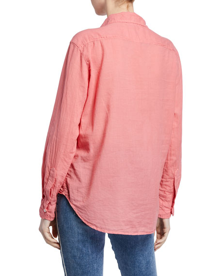 Frank & Eileen Long-Sleeve Button-Down Cotton Shirt, Red
