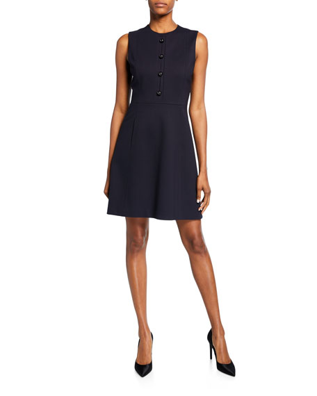 Elie Tahari Louisa Sleeveless Fit-&-Flare Dress
