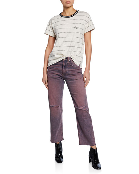 Rag & Bone Maya High-Rise Ankle Straight-Leg Jeans