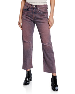 589078d1be0643 Women's Contemporary Straight-Leg Jeans at Neiman Marcus