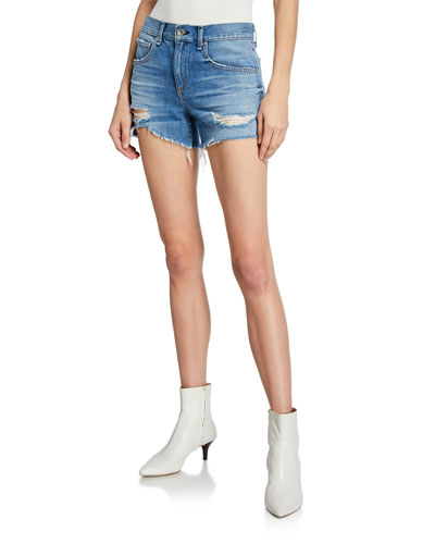 Dre Low-Rise Distressed Shorts