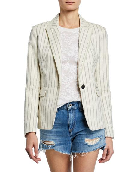Rag & Bone Millie Pinstripe Single-Button Blazer