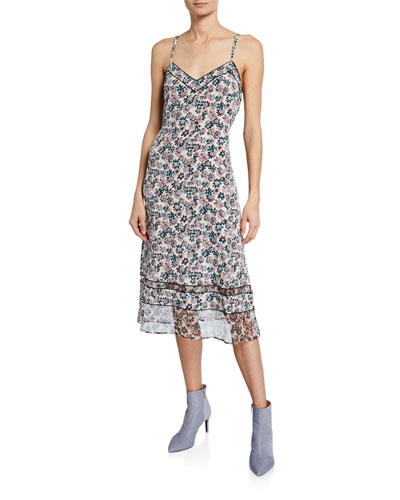 Ilona Silk Chiffon Floral Slip Dress
