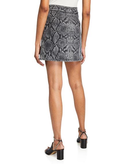 Rag & Bone Isabel High-Rise Snake-Print Mini Skirt