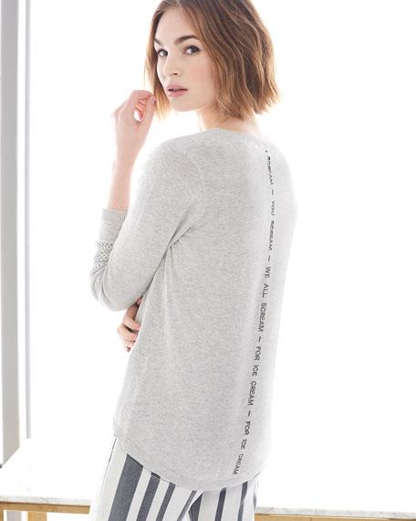 Lisa Todd Lickety Split Ice Scream Intarsia Sweater, Petite