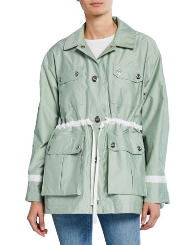 Refined Waterproof Garden Jacket w/ Four Pockets