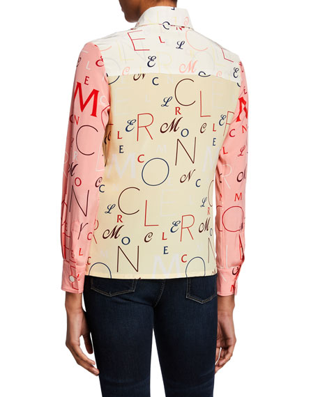 Image 2 of 2: Moncler Moncler Genius Long-Sleeve Printed Silk Shirt