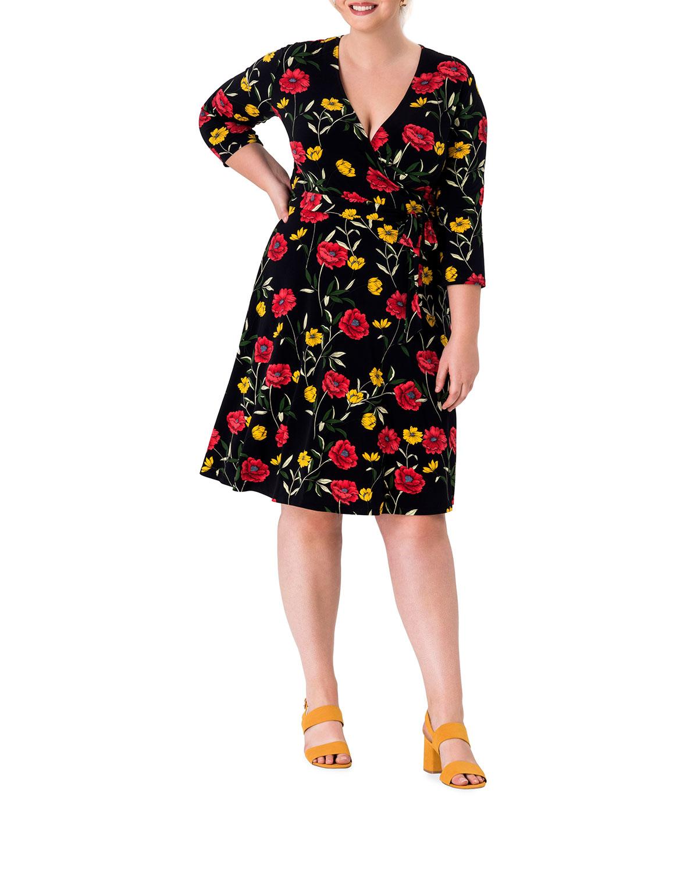 Plus Size Perfect Printed Wrap Dress