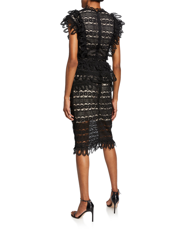 ddbf3d97a06c Elliatt Terrace Two-Tone Lace Short-Sleeve Top & Skirt Set | Neiman Marcus