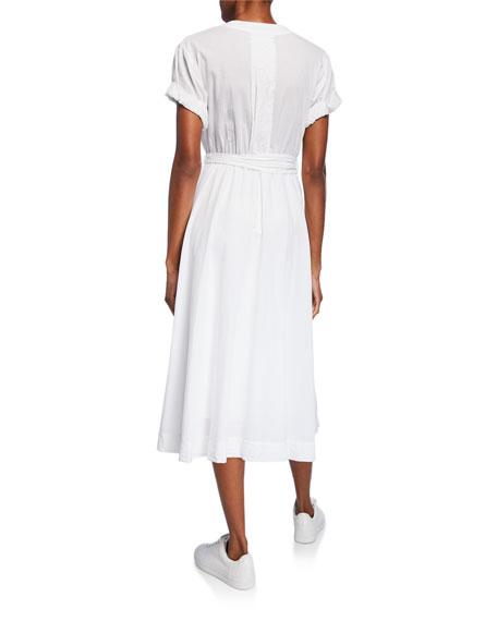 Xirena Winslow Short-Sleeve Midi Wrap Dress