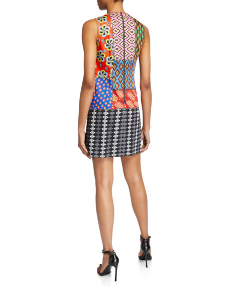 Alice + Olivia AO x CARLA Clyde Embroidered A-Line Shift Dress