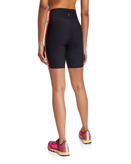 Spiritual Gangster Side Striped Biker Shorts