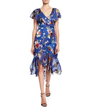 8f93bc364cd86c Alice + Olivia Electra Asymmetric Ruffle High-Low Dress