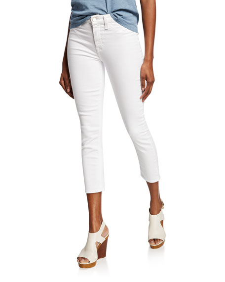 Jen7 by 7 for All Mankind Mid-Rise Cropped Skinny Jeans