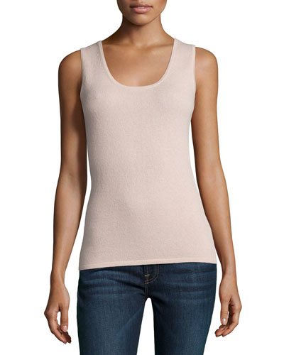 Plus Size Scoop-Neck Cashmere Tank