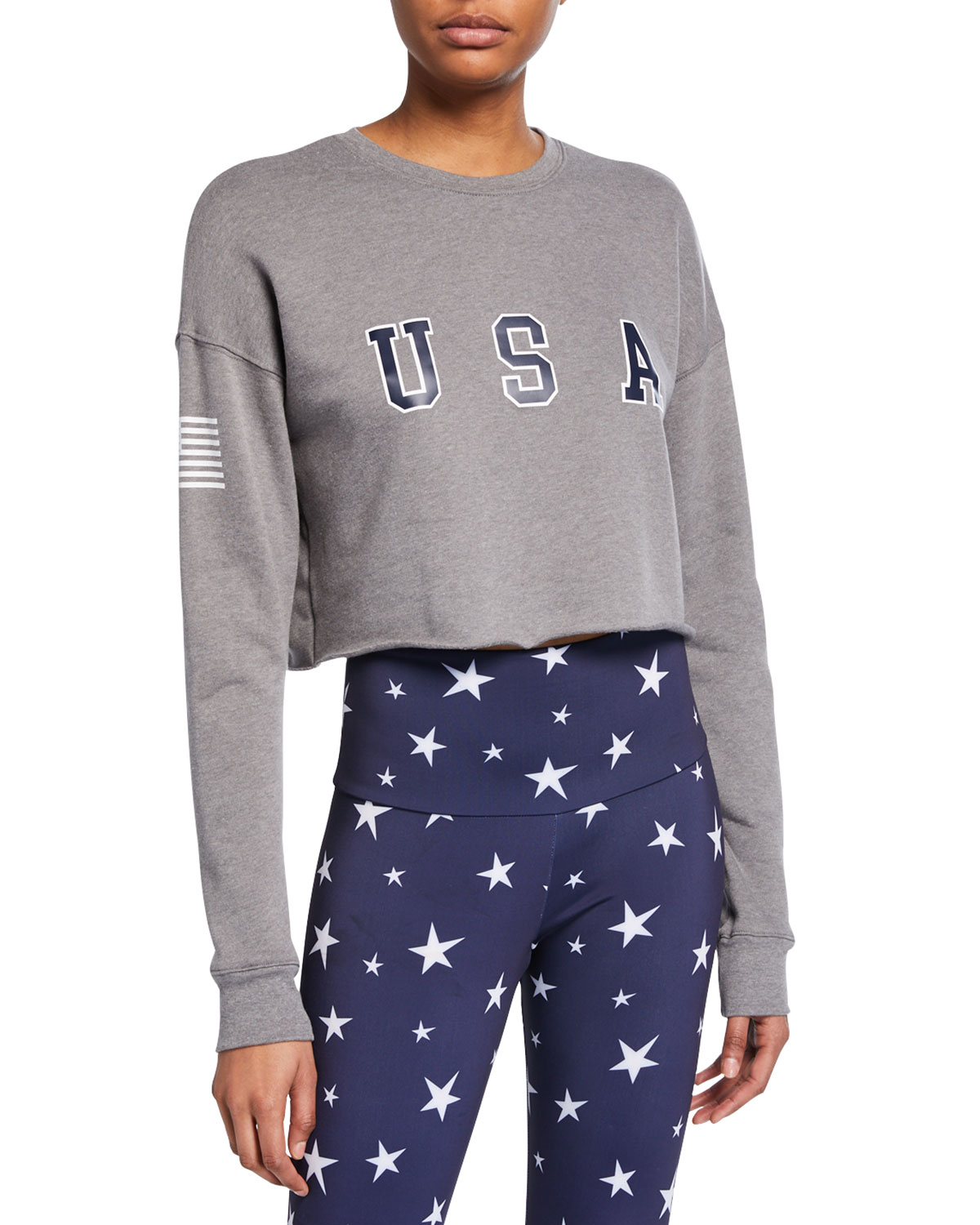 Onzie 4TH Of July Cropped Long-Sleeve Top