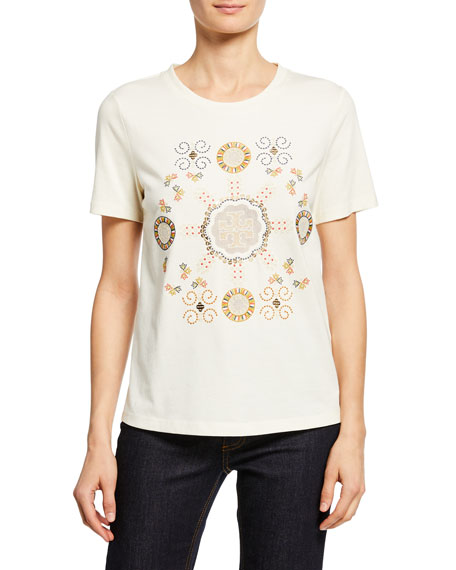 Tory Burch Embroidered Logo T-shirt