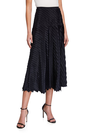 NIC+ZOE Plus Size Fiesta Pleated Ruffle Midi Skirt