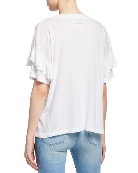 Image 2 of 2: Current/Elliott Ruffle Roadie Tee