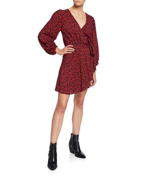 Iro Boina Leopard-Print Wrap Dress