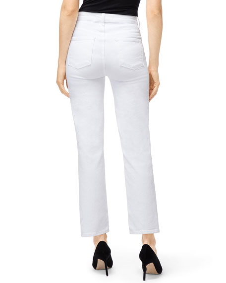 9200db31bc J Brand Jules High-Rise Straight-Leg Jeans | Neiman Marcus