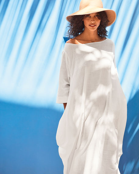 DUBGEE by Whoopi Boat-Neck 3/4-Sleeve Cocoon Dress w/ Pockets