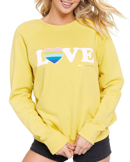 Spiritual Gangster Love Printed Long-Sleeve Sweatshirt