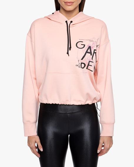 Koral Aura Graphic Hooded Drawstring Sweatshirt